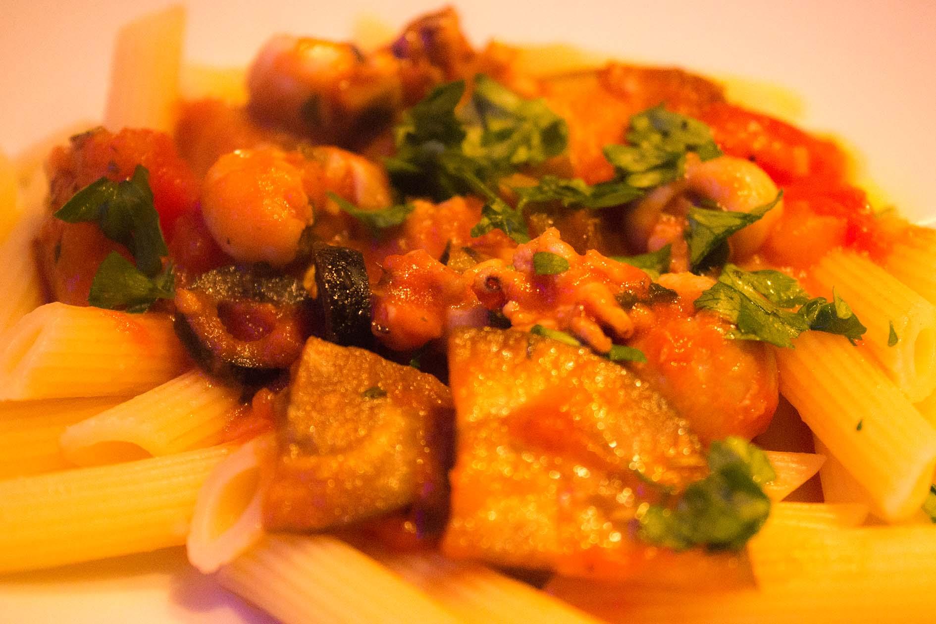 gefüllte Sepien mit provencalischem Gemüse