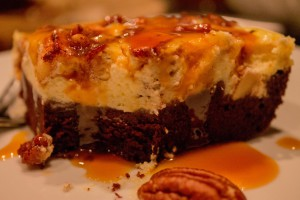 Brownie Cheesecake Apple Salted Caramel