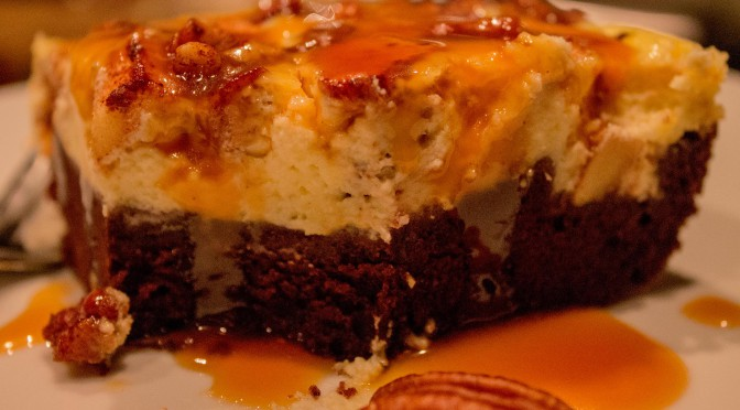 Salted Caramel Apple Cheesecake Brownie
