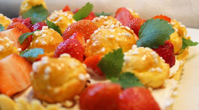 Tarte chouquettes aux fraises – nachgebacken!