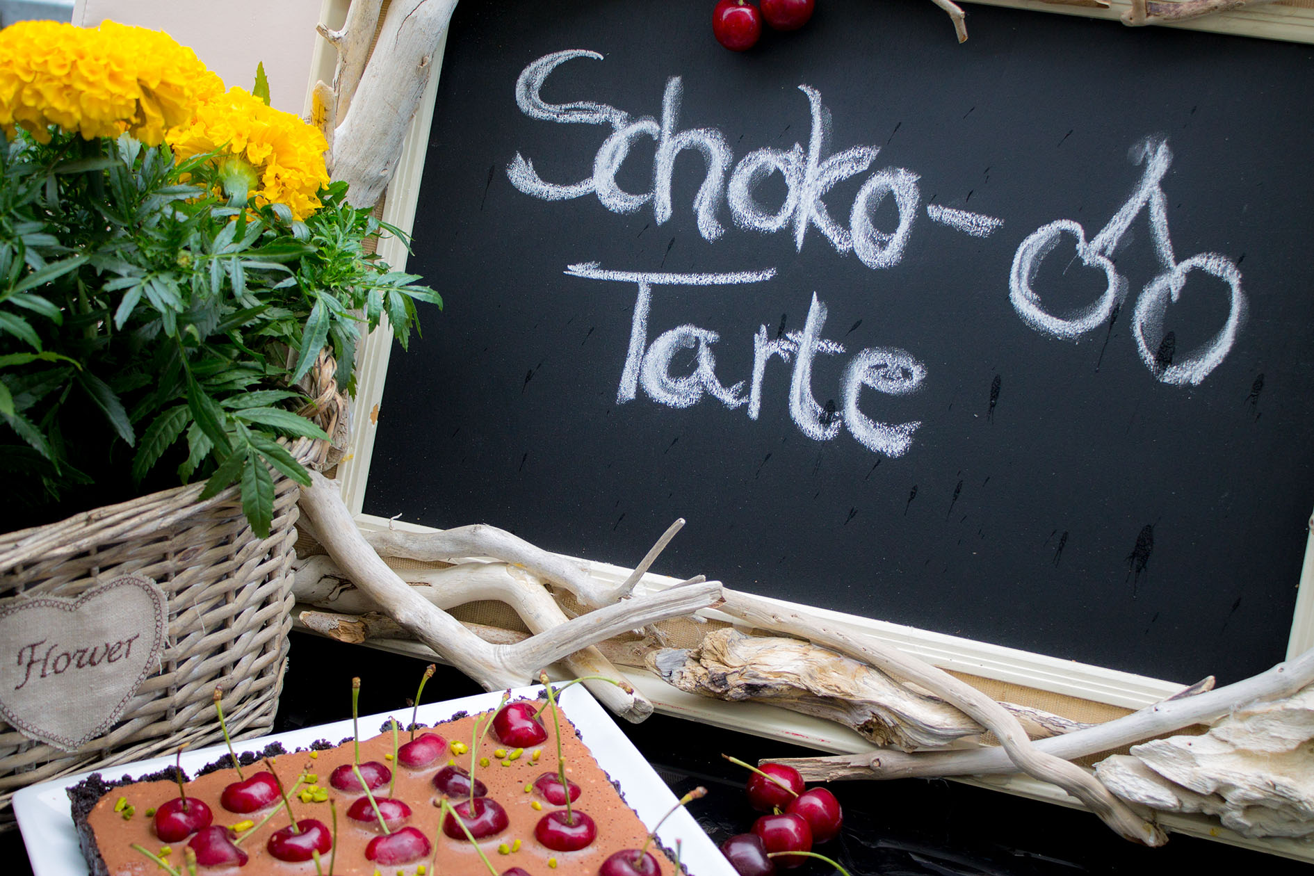 schoko kirsch tarte ohne backen