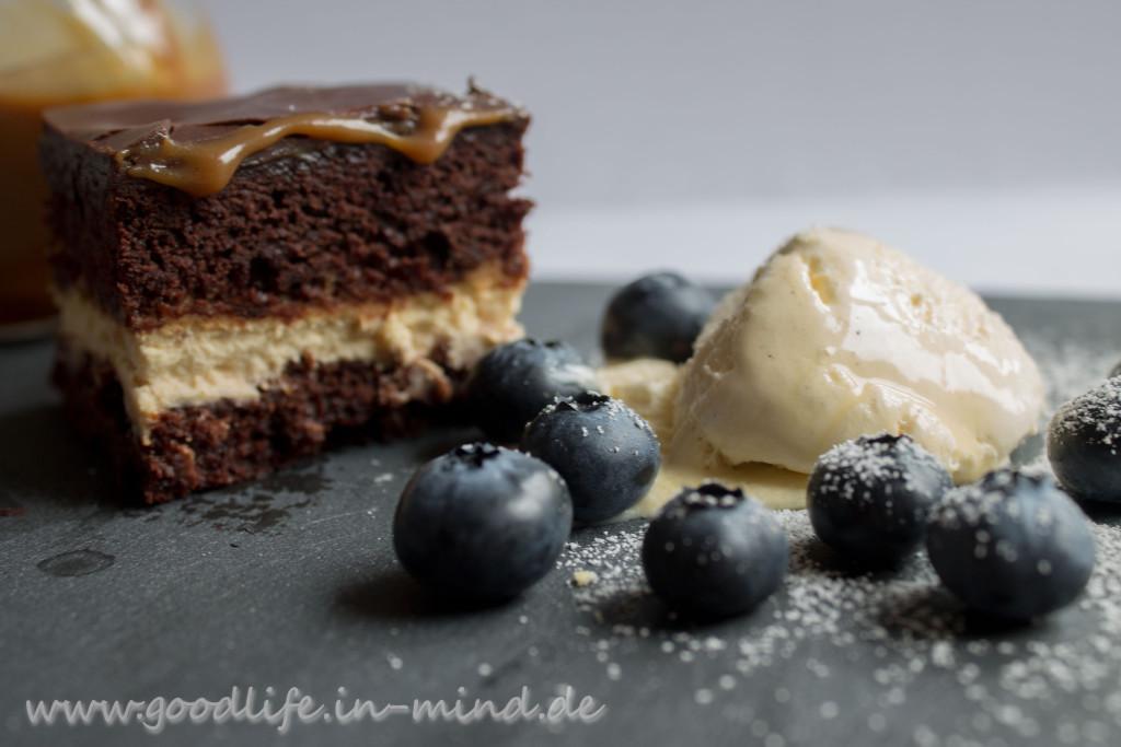 Brownie Cheesecream Karamell Seelenstreichler