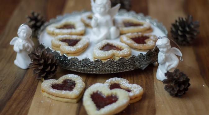 Weihnachtsplätzchen nach Linzer Art oder Flammendes Herz