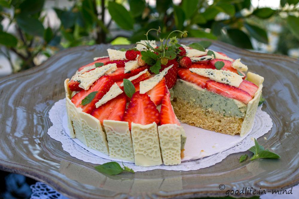 Erdbeer-Basilikum-Mascarpone-Torte