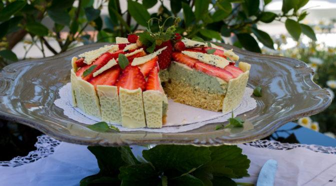 Miss Little Sunshine oder Erdbeer-Basilikum-Mascarpone-Torte