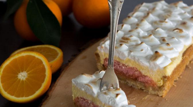Tarte mit Orangencurd und Meringue