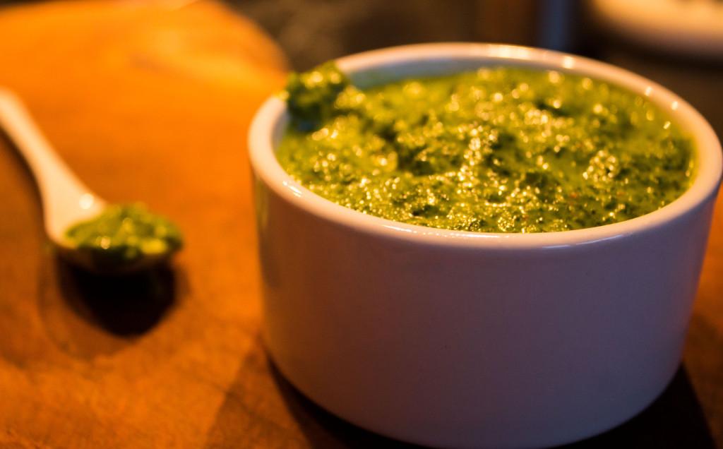 Mojo verde scharf Kanarische Sauce und Kartoffeln Rezept