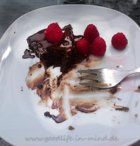 Gâteau au Chocolat Chocolat ein kleiner Biss zum Glueck