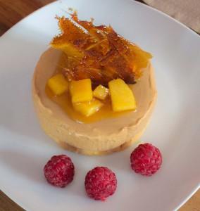 Nougatmousse mit Apfelchutney - Dessert
