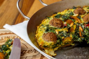 Mangold-Falafel-Omelett