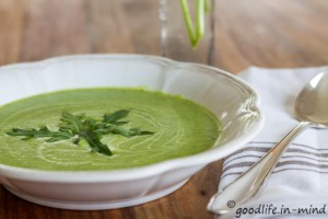 Rucola-Kartoffel-Suppe