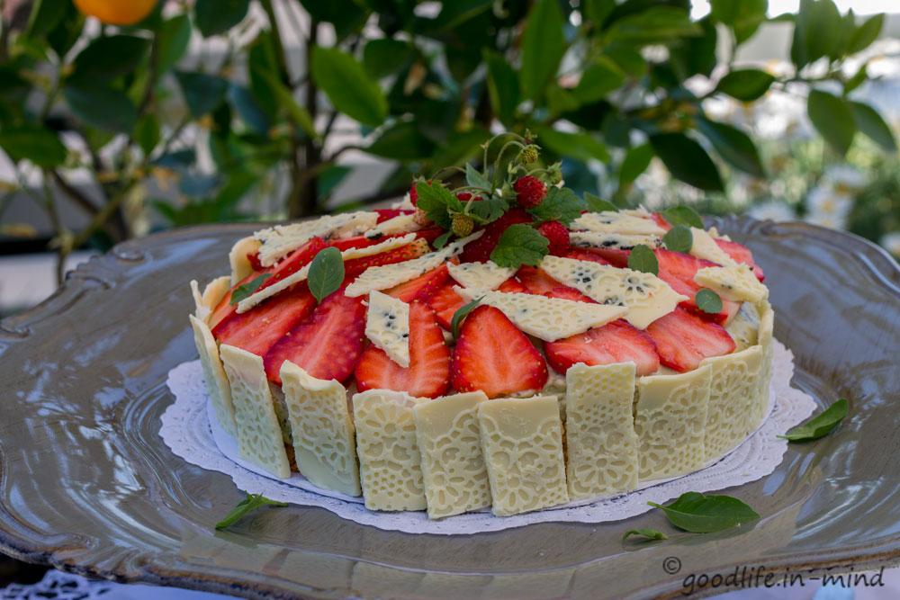 Erdbeer-Basilikum-Mascarpone-Kuchen