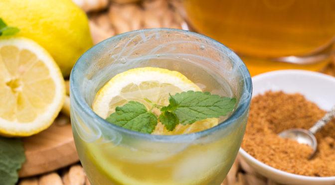 Erfrischung im Glas