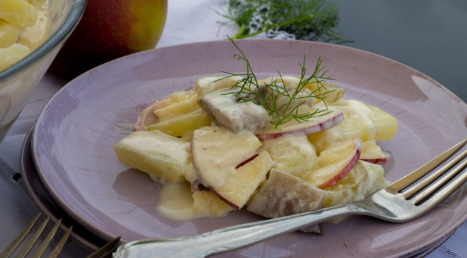 Matjes-Kartoffelsalat mit Blitzgurken