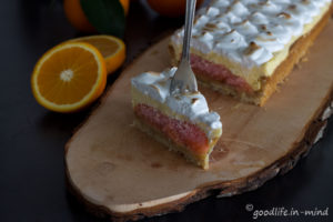 Orangen-Curd-Tarte-Meringue Rezept Goodlife in mind