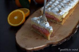 Orangen-Curd-Tarte-Meringue Rezept Goodlife in mind