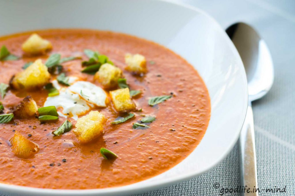 Tomatensuppe pur