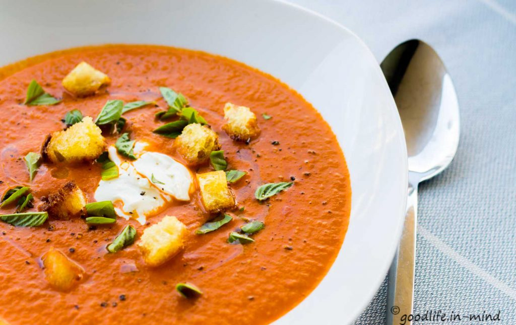 pure-Tomatensuppe